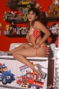 Red With White Polka Dot Bikini Toy Room picture 4