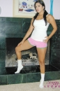 White Cotton Panties And Pink Shorts With The Fireplace picture 3
