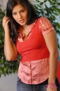 Jean Skirt & Red Vest picture 10