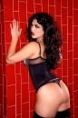 Red Tile Sink Black Corset picture 23