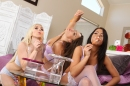 Lesbians Playing With Bubbles picture 11