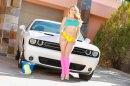Anal Blonde Carwash picture 1